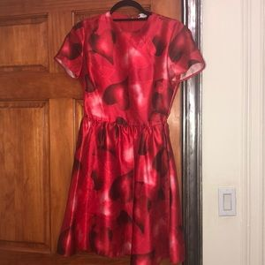 Red heart Valentino dress